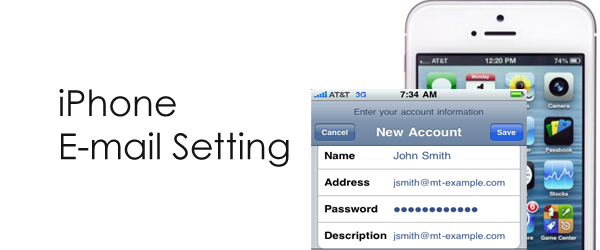 iPhone: Setting up E-mail (आई-फोन: ई-मेल सेट्टिंग)