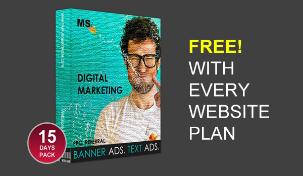Free! Digital Marketing Pack worth Rs.5,000
