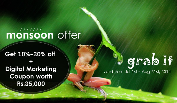 2014 Monsoon Discount Offer