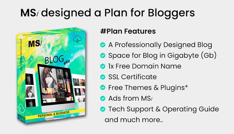 Blogging Website Designing Plan Deigned by Mukunda Software Inc