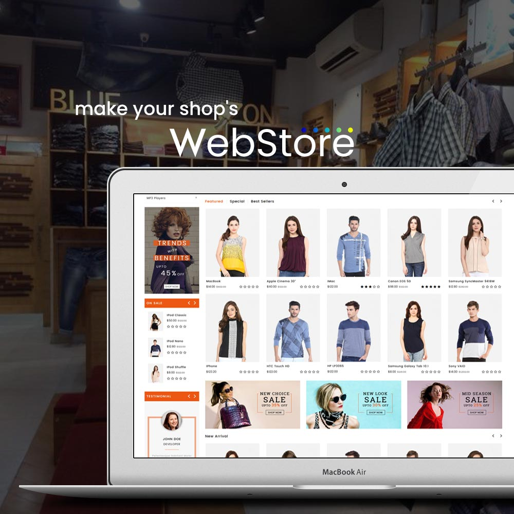 A comparing chart which one is better a Website or e-Commerce WebStore